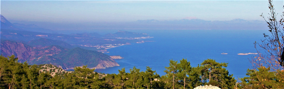 View of the Gulf of Antalya from the pass