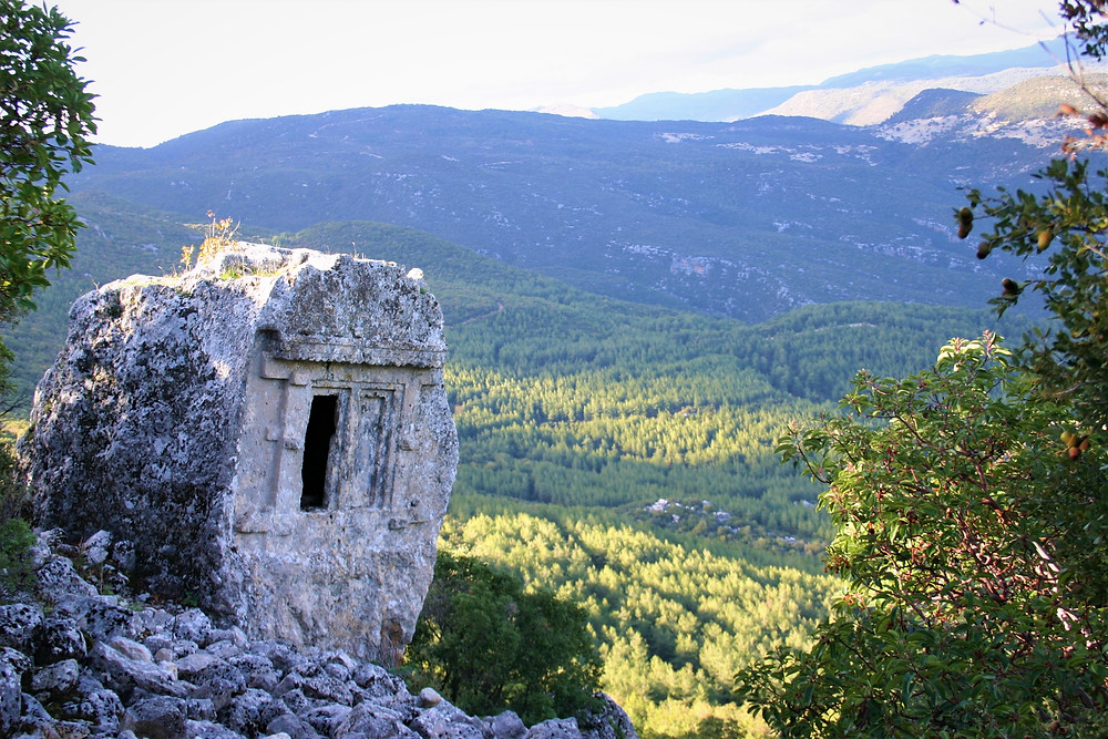House Type tomb in Phellos, on the Lycian Wat trekking route