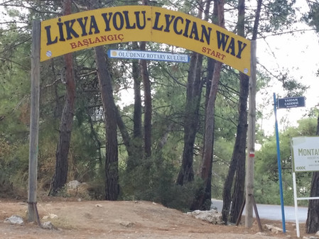 Start of The Lycian Way