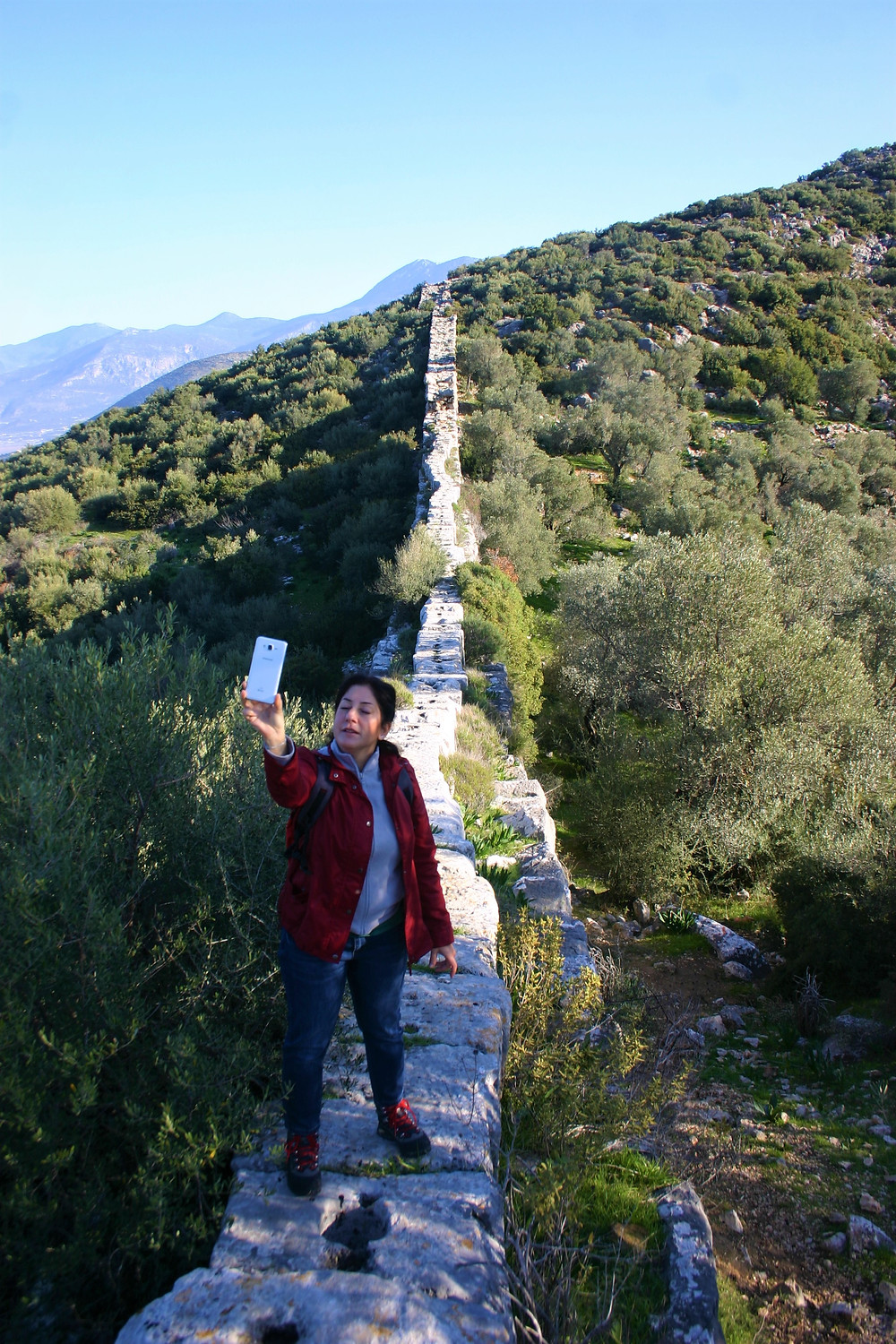 Delikkemer Aqueduct a great Turkish hiking destination