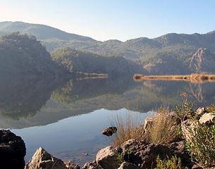 Biking around Sulungur Lake in Turkey