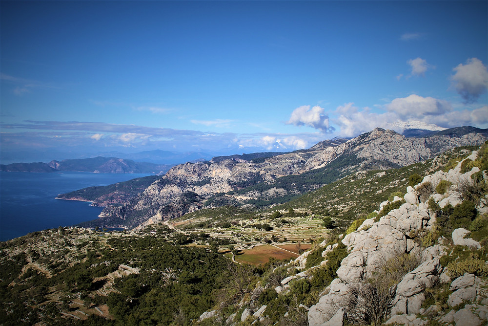 The seven capes from Gey, a stop on the Lycian path