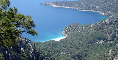 Paradise bay from the Trekking route of Lycia