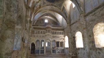 Interior of Kayakoy church with intact iconostasis