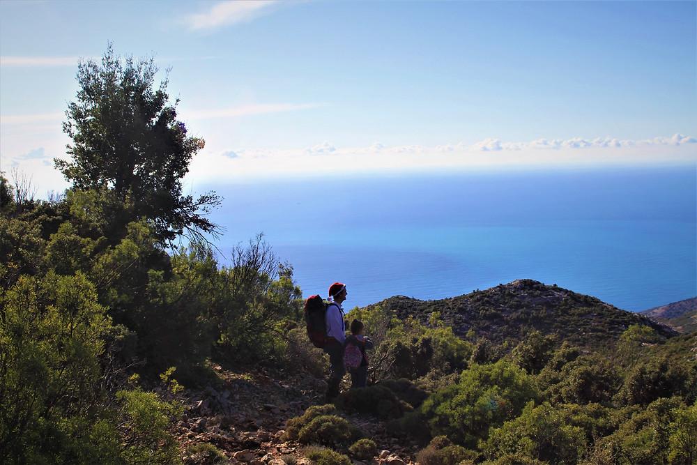Father xmas Trekking near Gey in Lycian Turkey