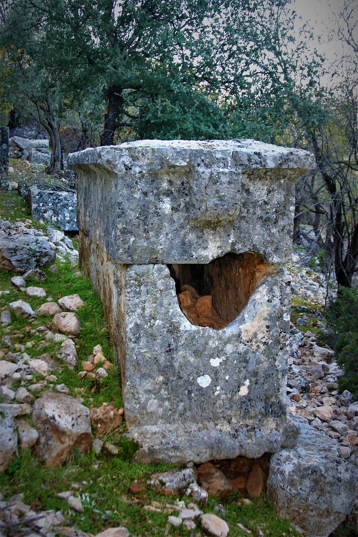 Unusual Lycian Square sarcophagus in Apollonia