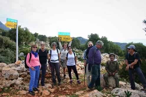 Trekking group on the Lycian Way near Ufakdere