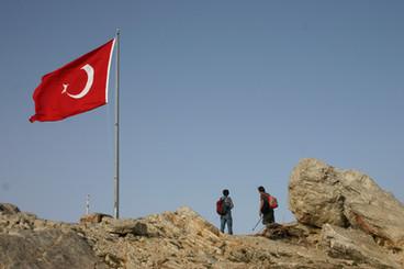Turkish Flag at Mt Sivri, Egiridir