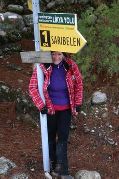 Lycian way Sign to Saribelen
