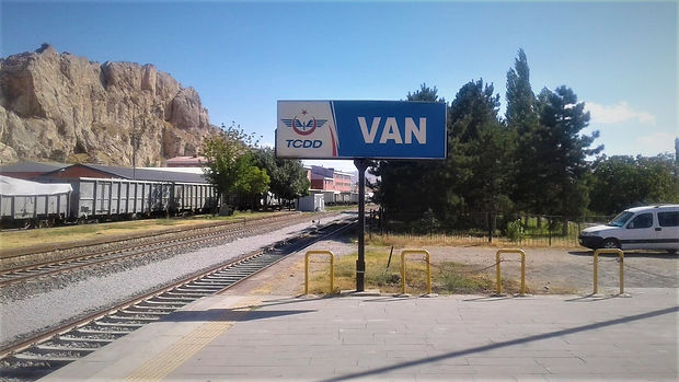 Van Train Station on Turkey Iran railway