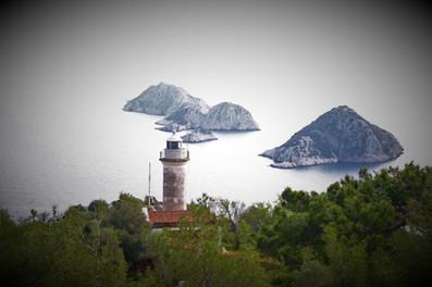 Gelidonya Lighthouse in winter