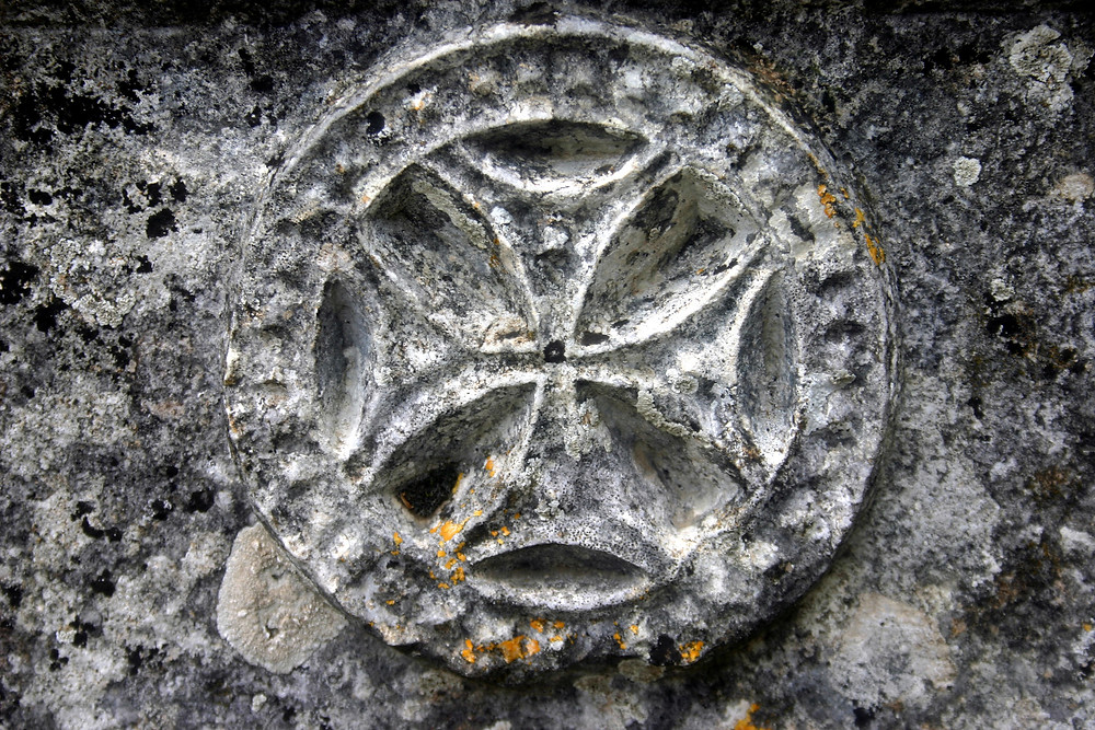 Lintel cross Alakilise on the Lycian Way