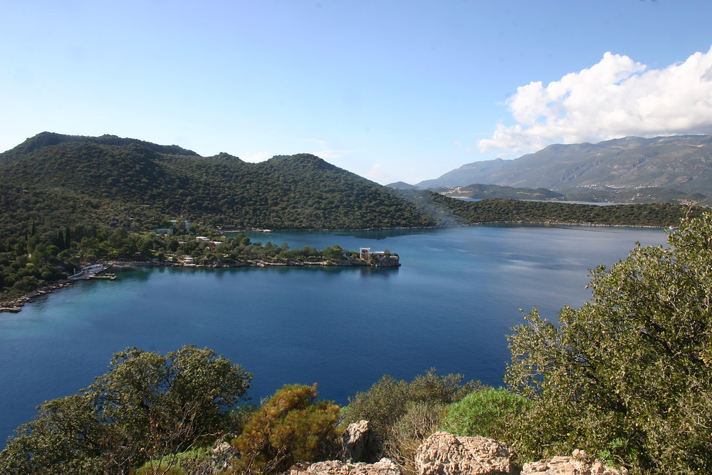 Lycian way view of limanagzi Kas