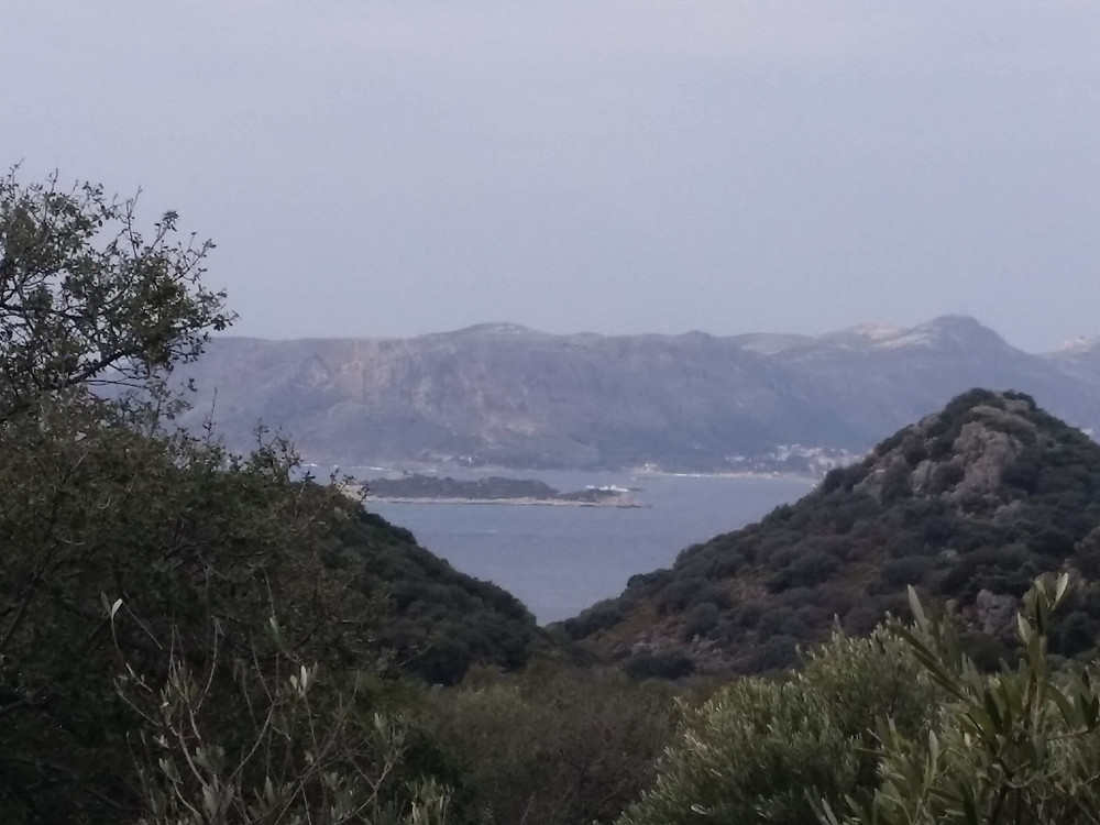 Lycian way views to Greek Island