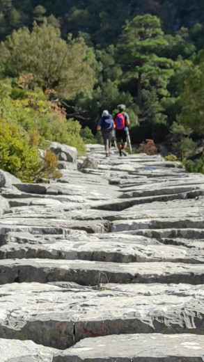 Video of the ancient road to Adada