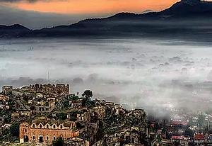 Mist in Kayakoy.
