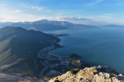 View towards Mt Barla from Mt Sivri