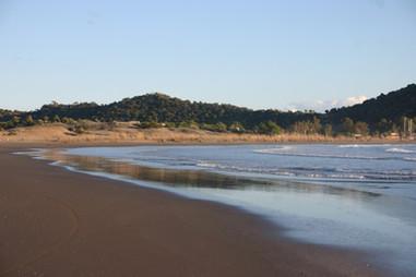 The fine sand at Andriake Beach