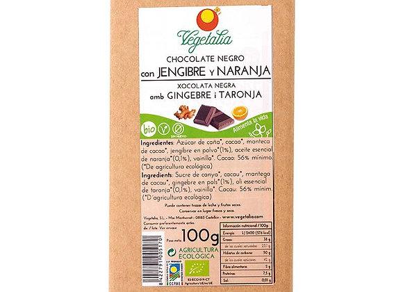 Chocolate de jengibre y naranja