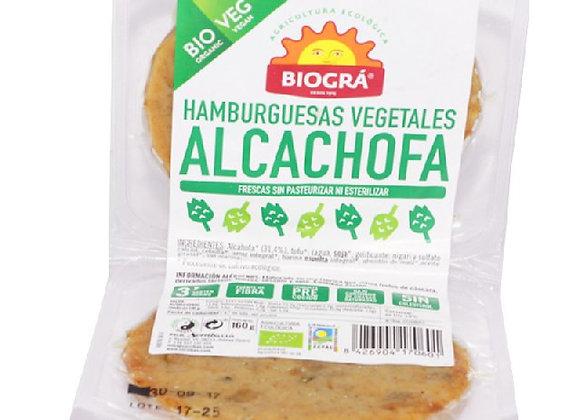 Hamburguesa de vegetales y alcachofa