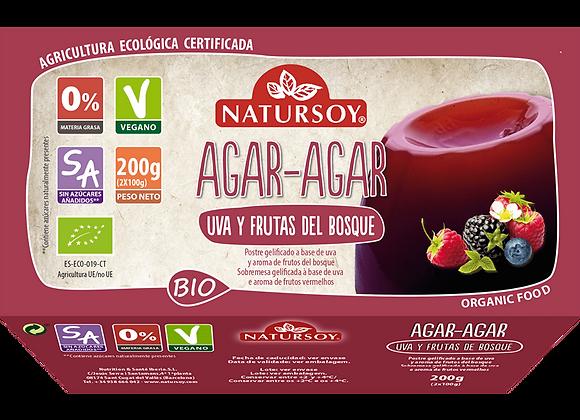 Agar agar uva y frutos rojos