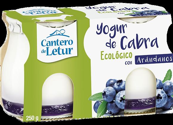 Yogurt de cabra con arándanos pack