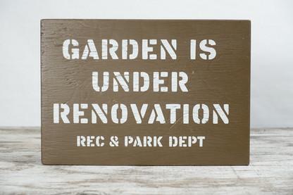 Garden Under Renovation