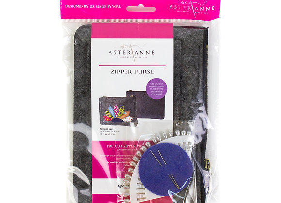 Zipper Purse felt kit
