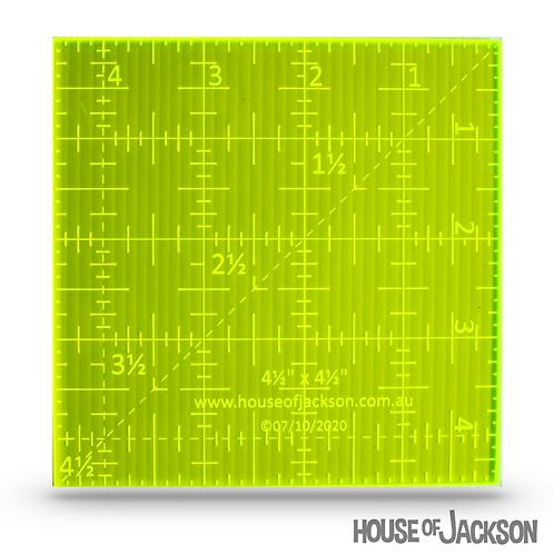 """House of Jackson Mini 4 1/4"""" square Ruler"""