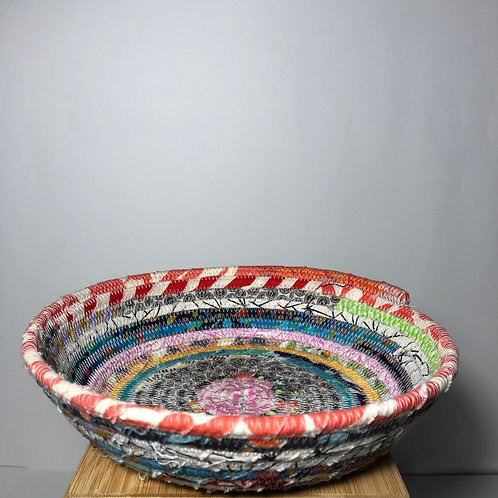 Small Rope Bowl In Red, Orange & Neutrals
