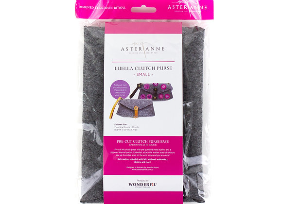 Small Luella clutch felt kit Aster and Anne