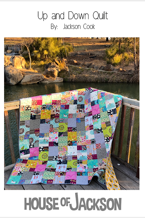 Up And Down Quilt Pattern Hard Copy