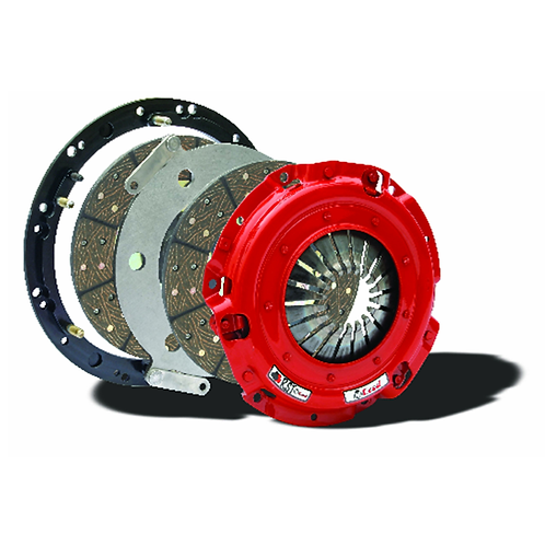 McLeod 6405507 RST Twin Disc Organic Clutch Kit With Steel Flywheel, 6-Bolt Flan