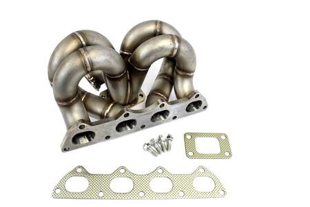 PLM Power Driven T3 RAMHORN Turbo Manifold AC & PS COMPATIBLE B-Series B16 B18 B