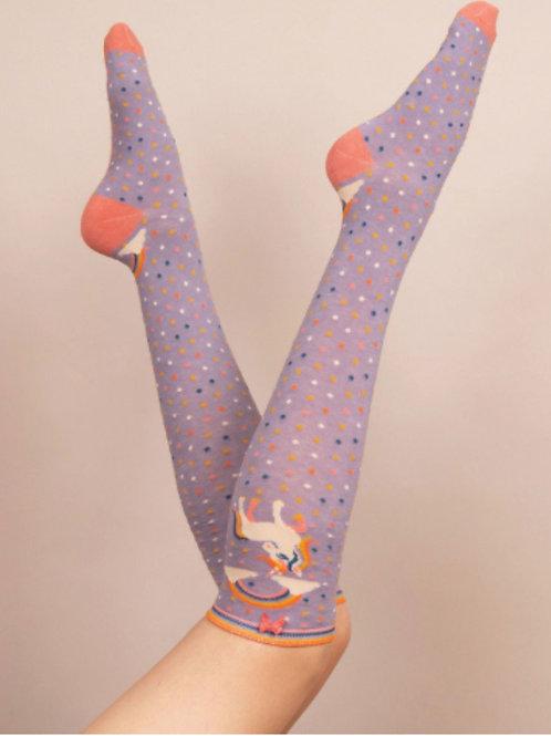 Knee Length Unicorn & Rainbow Socks