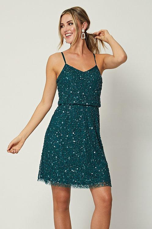 Emerald Green Sequin Dress