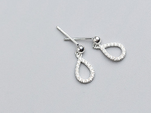 Sterling Silver Oval Drops