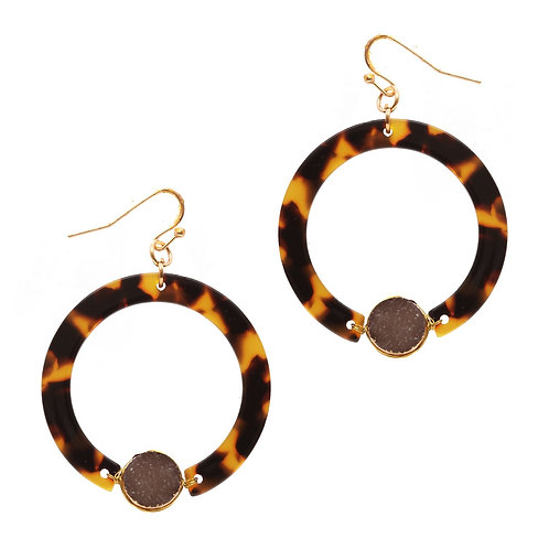Brown Resin Hoops