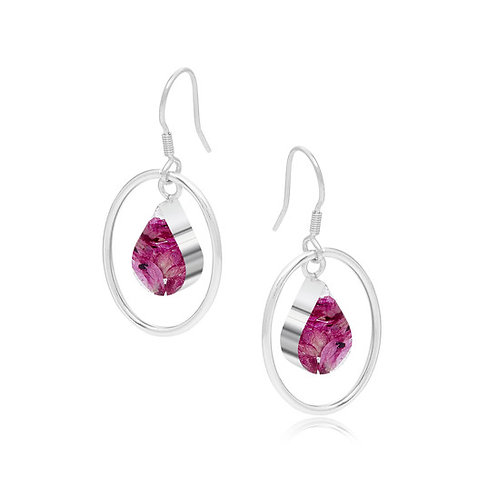 Sterling Silver Pink Heather Drops
