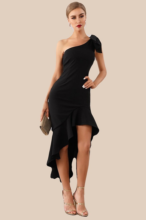 Black Occasion Dress with Slit