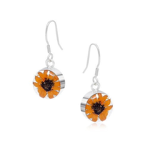 Sterling Silver Sunflower Drops