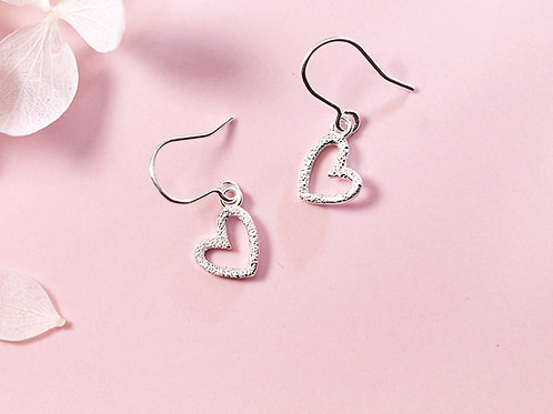 Sterling Silver Heart Drops