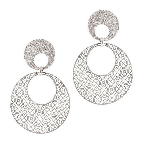 Silver Circular Hoops