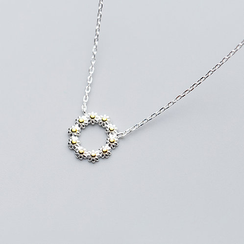 Sterling Silver Daisy Chain