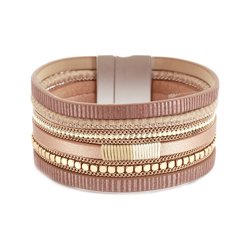 Rose Gold Multi-Strand Bracelet