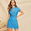 Thumbnail: Blue Open Back Dress with Lace Detail