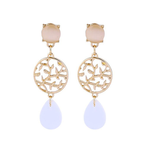Gold Branch Drop Earrings