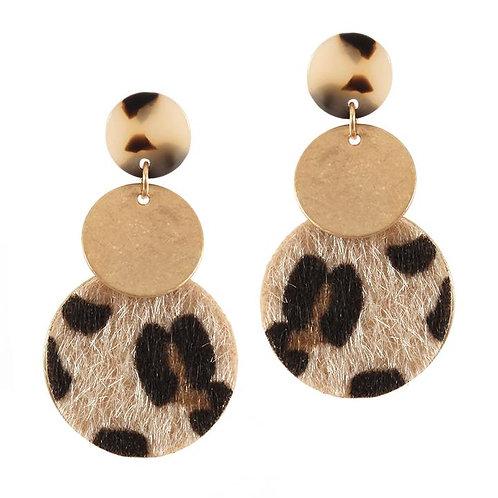 Leopard Print Circular Drops