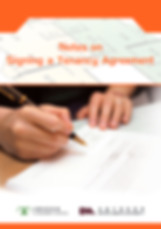 Notes on Signing a Tenancy Agreement