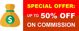 Special Offer - Up to 50% off on commiss